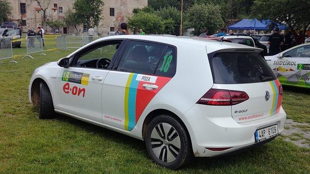 Rallye Český Krumlov z vozidla Deníku