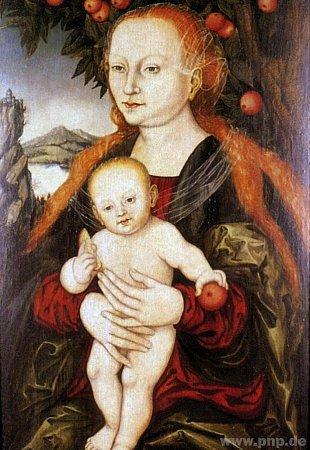 Madonna podle Cranacha.