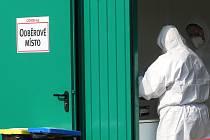 Odběrové místo pro odebírání vzorku na koronavirus. Ilustrační foto.