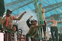 Utkání 4. kola první fotbalové ligy mezi týmy SK Dynamo České Budějovice a SK Slavia Praha