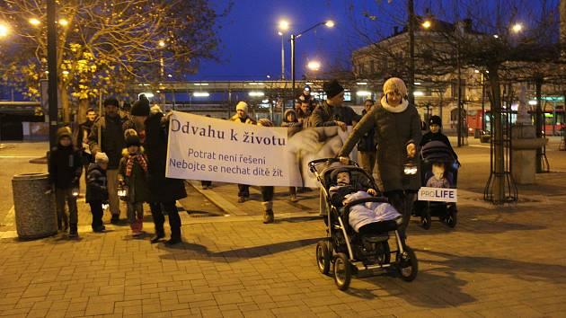 Pochod pro život se konal v Českých Budějovicích v sobotu počtvrté.