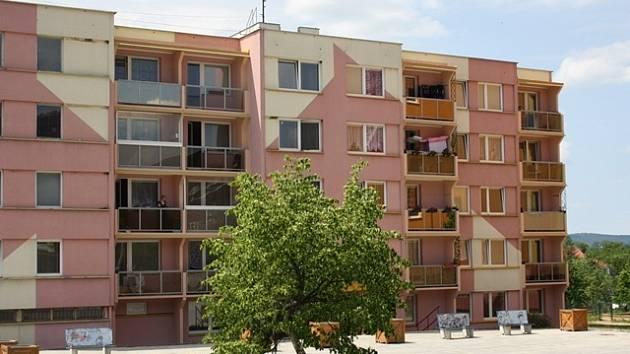 Hlinecké sídliště v Týně nad Vltavou.