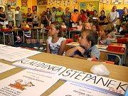 První školní den na ZŠ Hlinecká Týn nad Vltavou.