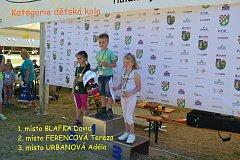 Závod škol v cyklistice, první cenou bylo předplatné Deníku