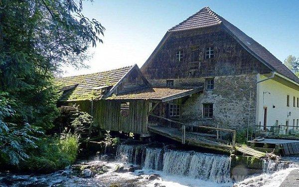 Nejstarší vodní mlýn vBavorském lese.