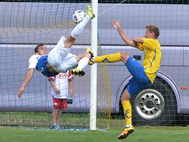 Parádní nůžky v utkání Táborska se Zlínem (1:2) na turnaji v Počátkách vystřihl testovaný Srb Krsta Dordjevič.