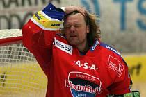 Zkušený brankář Roman Turek byl oporou hokejistů HC Mountfield.