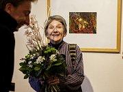 Anifilm, mezinárodní festival animovaných filmů, nabízí v Třeboni do 8. května 405 snímků z celého světa. Na snímku manželka Václava Mergla, který převzal v Třeboni cenu za celoživotní přínos.