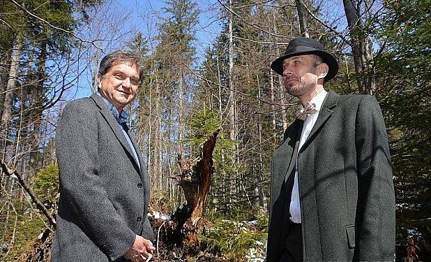 Setkání (vlevo ředitel bavorského parku Leibl).