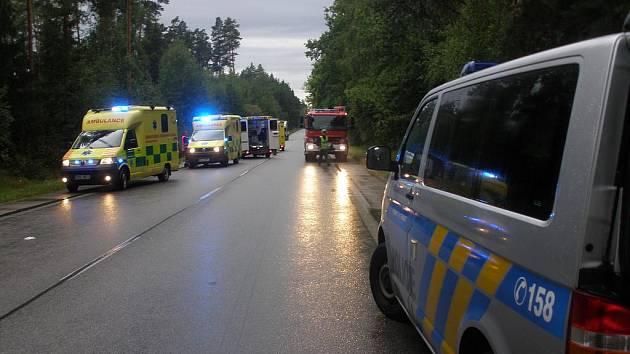 Sobotní nehoda u Stráže nad Nežárkou si vyžádala dva lidské životy
