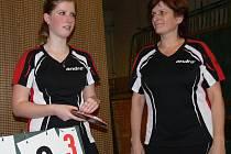 Vendula (vlevo) a Jaroslava Tenglovy přivedly v této sezoně na Sokol druhou ligu žen.