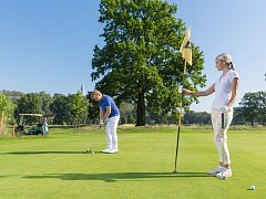 Antonín Loužek ml. na golfovém hřišti
