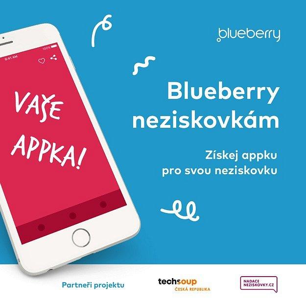 Blueberry věnuje 1milion korun na vývoj mobilní aplikace vybrané neziskové organizaci.