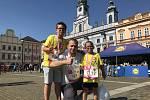 Přemysl Šmíd se zúčastnil se svými dvěma syny RunTour 2020 v sobotu v Českých Budějovicích.