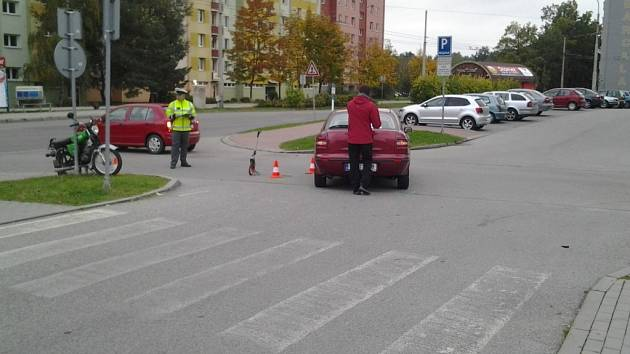 Špatné značení v Barcalově ulici hraje hlavní roli v nehodě, která se zde stala loni v říjnu. Autentický snímek.