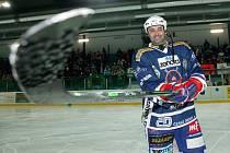 Martin Dejdar v hokejové výstroji.