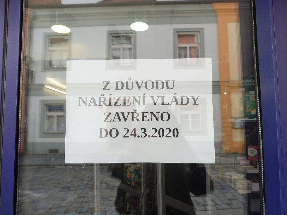 První den karantény v Českých Budějovicích.