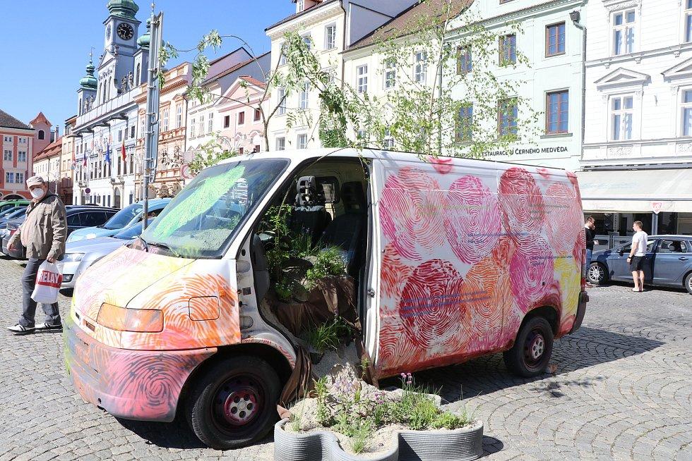 Umění ve městě v Českých Budějovicích.