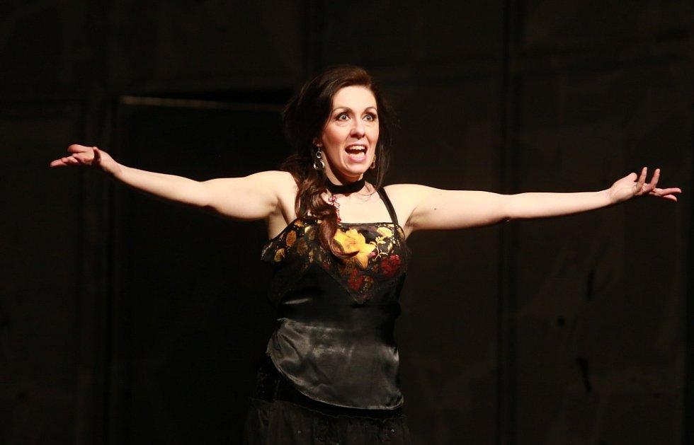 Popáté ve své historii nastudovala opera Jihočeského divadla Bizetovu Carmen. Poprvé zazní libreto ve francouzském originále. Na snímku jako Carmen Šárka Hrbáčková, která roli alternuje se Sandrou Schwarzhaupt.