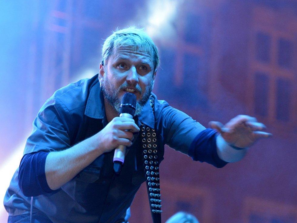 Skupina Divokej Bill, na snímku zpěvák Václav Bláha.