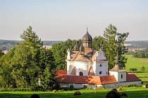 Kostel Nejsvětější Trojice u Trhových Svinů.