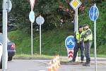 Za Štěpánovicemi ve směru na Třeboň se srazila tři auta.