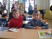 První školní den v českobudějovické ZŠ J. Š. Baara.