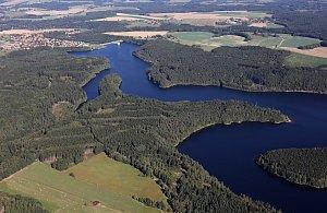 Vodní nádrže na jihu Čech