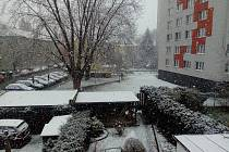 V Českých Budějovicích sněží.
