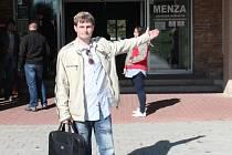 Poprvé do menzy na oběd zamířil v pátek dvacetiletý prvák Martin Maček. V Budějovicích je zatím spokojený.