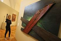 Alšova jihočeská galerie v nové stálé expozici, kterou otevře 16. dubna, propojila špičková díla gotiky a moderního umění. Kolekce přináší něco přes sto prací, její příprava stála milion korun. Na snímku obraz Velký pátek Pavla Nešlehy.