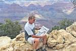 Písecký deník u Grand Canyonu v USA.