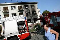 Požár v domě s pečovatelskou službou v Týně nad Vltavou.