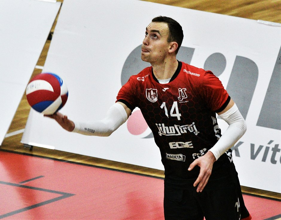 Filip Stoilovič v dresu Jihsotroje České Budějovice