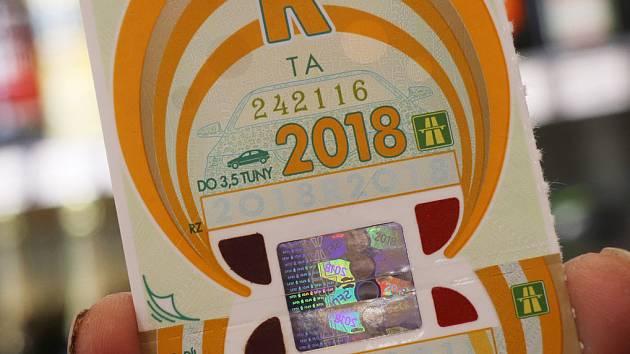 Dálniční známka na rok 2018