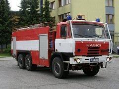 Vylepšit své vozidlo chtěli zlivští dobrovolní hasiči (na fotce vůz v původním stavu). Místo opraveného auta ale dostali vrak.