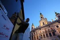 Kinematograf dorazil i letos v létě před českobudějovickou radnici.