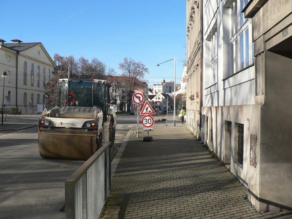 Rekonstrukce Senovážného náměstí v Českých Budějovicích.