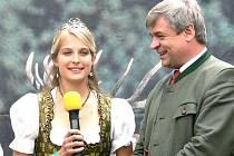 Národní myslivecké slavnosti. Bavorská královna myslivosti Susanne Schmid.