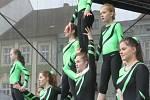 Mezinárodní gymnastické soutěže Eurogym začne v Českých Budějovicích přesně za 101 dní. Na snímku gymnastky ze ZŠ Tučapy.