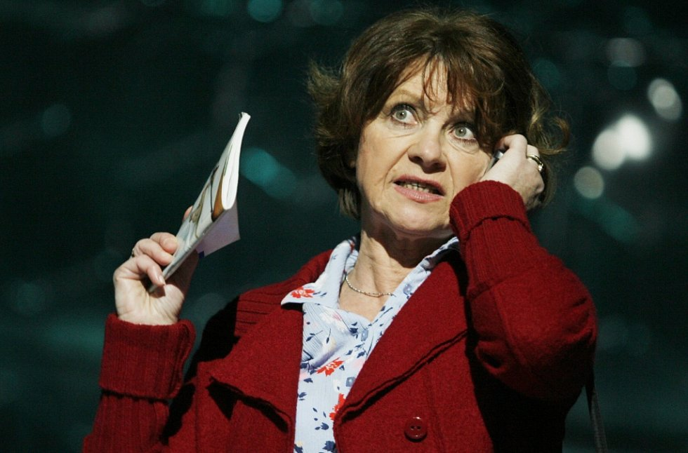 Herečka Bibiana Šimonová jako Sára ve hře Mobil, 2009.