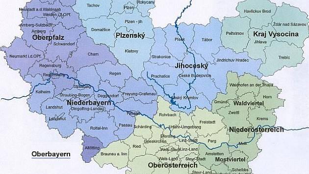 Euroregion Dunaj Vltava.