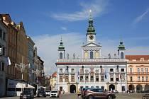 Budova městské radnice v Českých Budějovicích.