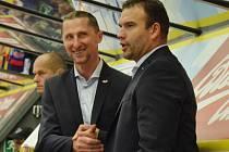 Anotnín Stavjaňa (vlevo) s Martinem Štrbou.