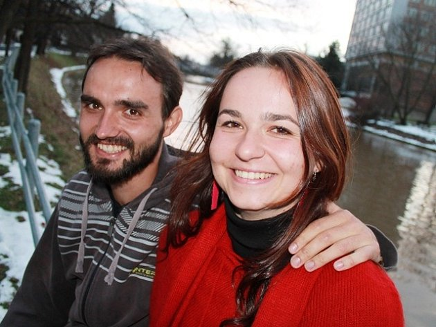 Studenti Markéta Aubrechtová a Josef Beneš.