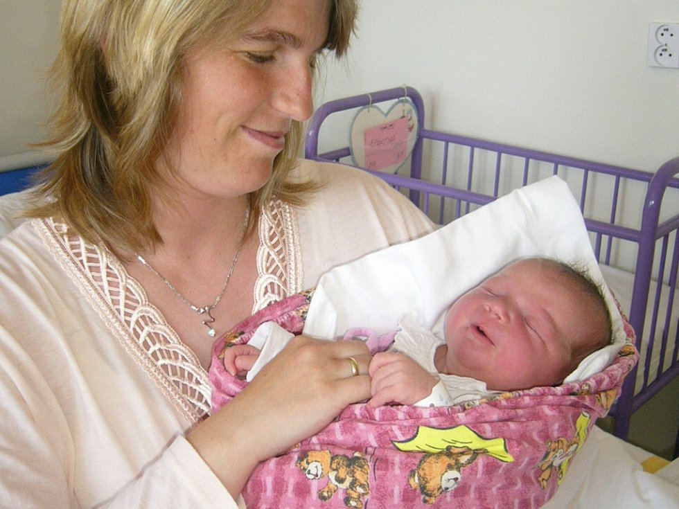 Adéla Šťastná, České Budějovcie, 21. 4. 2009 v 8.55 h, 4,00 kg