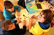Děti se učily animovat v třeboňském sále Roháč.