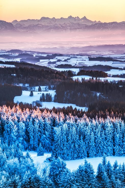 Alpy z Vítkova hrádku objektivem Lukáše Galla