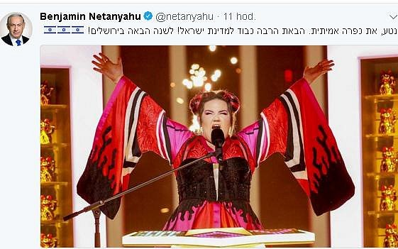 Vítězce blahopřál na webu premiér Netanjahu.