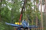 V troskách, přesto s dobrým koncem skončil v pátek odpoledne další z testovacích letů ultralehkého sportovní stroje UL-39 Albi.